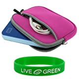 Portable Hard Drive Sleeve Case for Western Digital My Passport USB 2.0 WDMEA3200AN - Large Neoprene Sleeve - Magenta