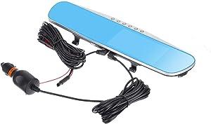"4.3"" TFT LCD Car DVR Dual Lens Camera Auto Mirror Monitor Dash Cam Video Recorder Camcorder IR Night Vision Rearview Camera"