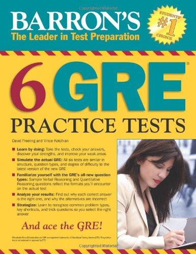 Read Online Barron's 6 GRE Practice Tests pdf