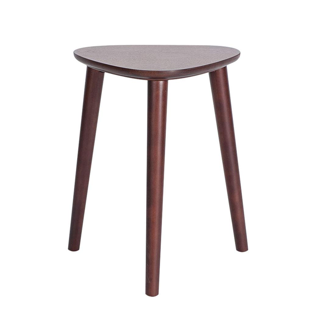 A Triangle Stool Solid Wood Home Modern Minimalist Dining Table Stool Dressing Stool Living Room Creative Stool,a