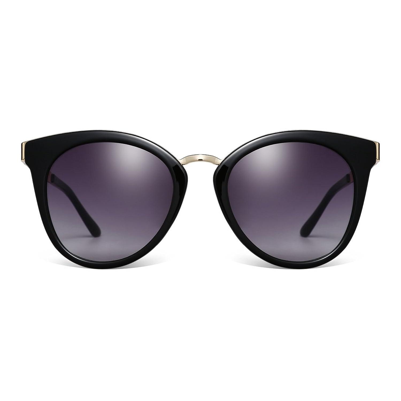 CAXMAN Women's Fashion Cat Eye Vintage Sunglasses Gradient Transition PC Lens