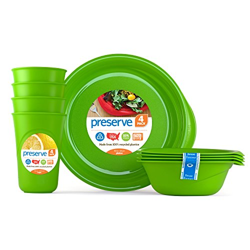 Preserve 20311 Everyday Tableware Set, Apple Green ()