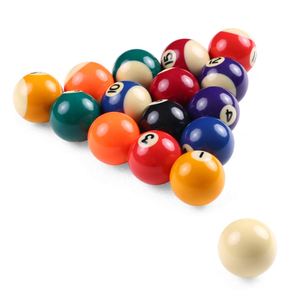 32MM Lepeuxi Les Boules de Table de Billard denfants de 25MM 38MM Ont plac/é de Petites Boules de r/ésine de Billard de r/ésine Ensemble Complet