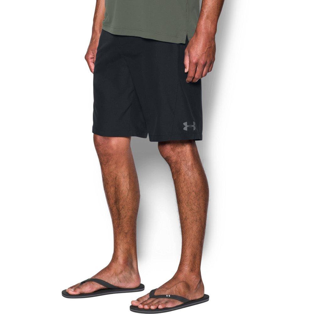 Under Armour Mens Rigid Boardshorts, Black (001)/Graphite, 34