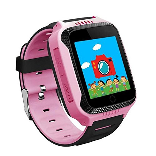Q528 Smart Watch for Kids GPS Watch With Camera LBS Tracker Wrist Watchs SOS Call for Apple Android Phone Smart Baby Watch Children Smartwatch Electronic pk q90 q50 (PINK)