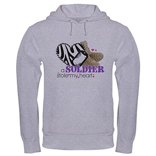 CafePress Zebra1 Pullover Hoodie, Classic & Comfortable Hooded Sweatshirt Heather Grey