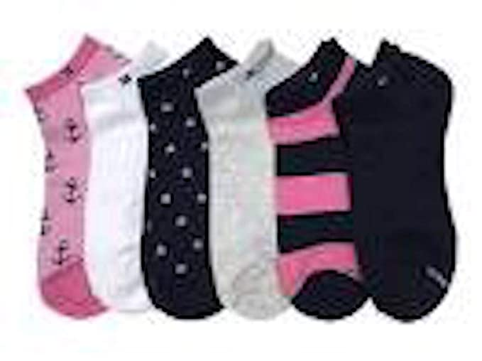 0cfba39d2a3a Tommy Hilfiger Combed Cotton 6-Pair Nautical Mix Low-Cut Women's Ankle Socks  (
