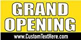 Custom Printed Grand Opening Banner - Yellow (10' x 5')