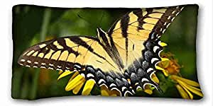 Generic Personalized Animal Custom Cotton & Polyester Soft Rectangle Pillow Case Cover 20x36 inches (One Side) suitable for Twin-bed