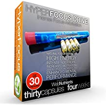 Limitless Pill - 30-Day HyperFocus DRIVE BLU - The Ultimate Nootropic Stack And Mitochondria Restoration/ATP Release Solution for FOCUS, MOTIVATION and ENDURANCE. Fast Acting. All Day Performance.