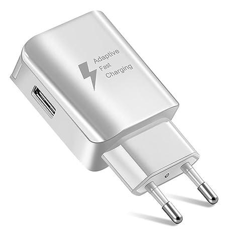 RONDA Cargador de Carga rápida, Puertos USB duales Cargador rápido de teléfono móvil D5 para iPhone/Galaxy / Xiaomi/HTC / iOS y teléfono Inteligente ...