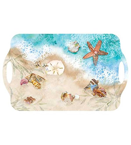 Melamine Serving Trays Plastic Trays Party Trays Food Trays Bed Tray 18.75 x 11.5 Nautical Decor Waters Edge - Edge Serving Tray