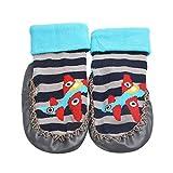 Inkach Clearance Newborn Baby Anti-Slip Slipper Floor Socks Soft Bottom Booties Shoes Non-Slip Socks (1~12 Month, Gray)