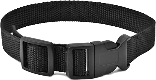 Dog Collar Strap, Bark Collar Belt for Most of theTraining Shock Collar Receivers Adjustable Durable Nylon Strap Replace for Barking Collar Fence-Pet Collar Strap (Black)