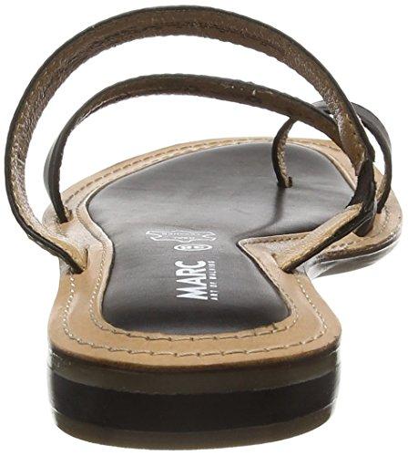 Marc Shoes Damen Mimi Pantoletten Schwarz (black-combi 101)