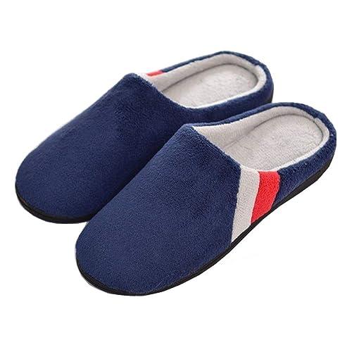 Zapatillas de Estar por casa Mujer Memoria Espuma Algodón Forro Calentitas Interior cómodo Antideslizante: Amazon.es: Zapatos y complementos