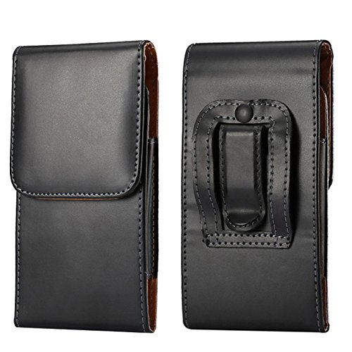 Iphone Executive Case - Premium PU Leather Vertical Executive Holster Belt Clip Pouch Case for iPhone 7 / 6S / HTC 10 / LG Tribute HD / K3 K1000 / LG X Skin / LG K8V / LG K3 4G / LG Escape 3
