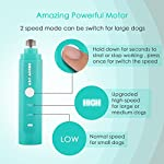 2 Speed Pet Nail Grinder Electric Nail Filer for Animals USB Rechargeable Paw Trimmer Clipper Pet Claw Grooming Kit for Dogs, Cats, Small Animals 9