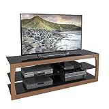 CorLiving TSL-323-T Santa Lana Faux Teak TV Stand, for TVs up to 70-Inch