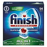 dishwasher Powerball Dishwasher Tabs, Fresh Scent, 54 Tabs/box, 4 Boxes/carton (54 Tablets | 4-Count)