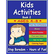 Kids Activities: Fun Kids Activities to learn and play with Dot to Dot, Find Differences, Mazes, Coloring, Puzzles and Word Games
