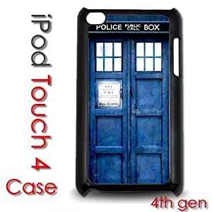Diy For Iphone 4/4s Case Cover Plastic Case - Dr Who Tardis Phone Booth Blue Call Box