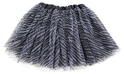 BotiqueCutie TM Animal Print Tutu for Girls Black & White Zebra Print by Mystiqueshapes [並行輸入品]   B01AKZBGD4