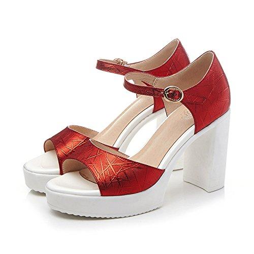 I Sandali Sono Semplici, A Suo Agio, Indossabili, Colore, A Bassa Risoluzione,Rosso,Eu37Cn38