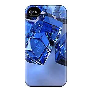 Fashionable BMOzToI7759PTDpu Iphone 4/4s Case Cover For Blue Cubes Protective Case