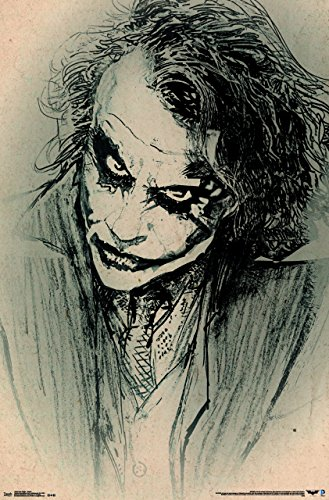 - Trends International The Dark Knight Sketch Wall Poster 22.375