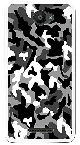 Tumundosmartphone Funda Gel TPU para BQ AQUARIS U/U Lite diseño Snow Camuflaje Dibujos