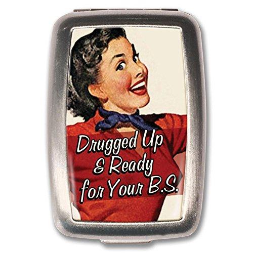 Drugged Up Retro Pin Up Girl Novelty Pill