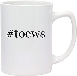 #toews - 14oz Hashtag White Ceramic Statesman Coffee Mug