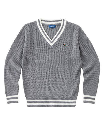 アーノルドパーマー ゴルフウェア セーター メンズ ケーブルVネックセーター AP220204H01 モクGY O
