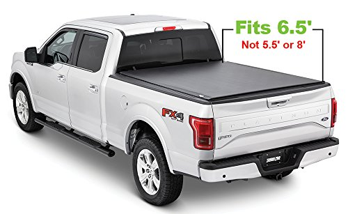 Tonno Pro LR-3050 Lo-Roll Black Roll-Up Truck Bed Tonneau Cover 2009-2018 Ford F-150 | Fits 6.5' Bed