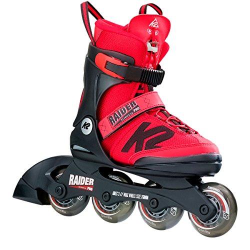 K2 Skate Raider Pro, Red, 4-8 by K2 Skate