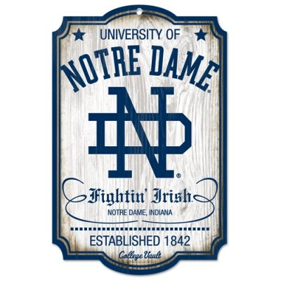 (NCAA College Vault Notre Dame Fighting Irish 11-by-17 Wood)