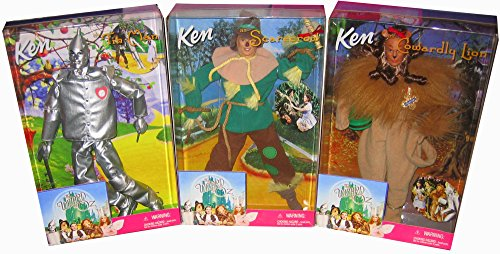 Ken Tin Man, Scarecrow & Cowardly Lion: Set of 3