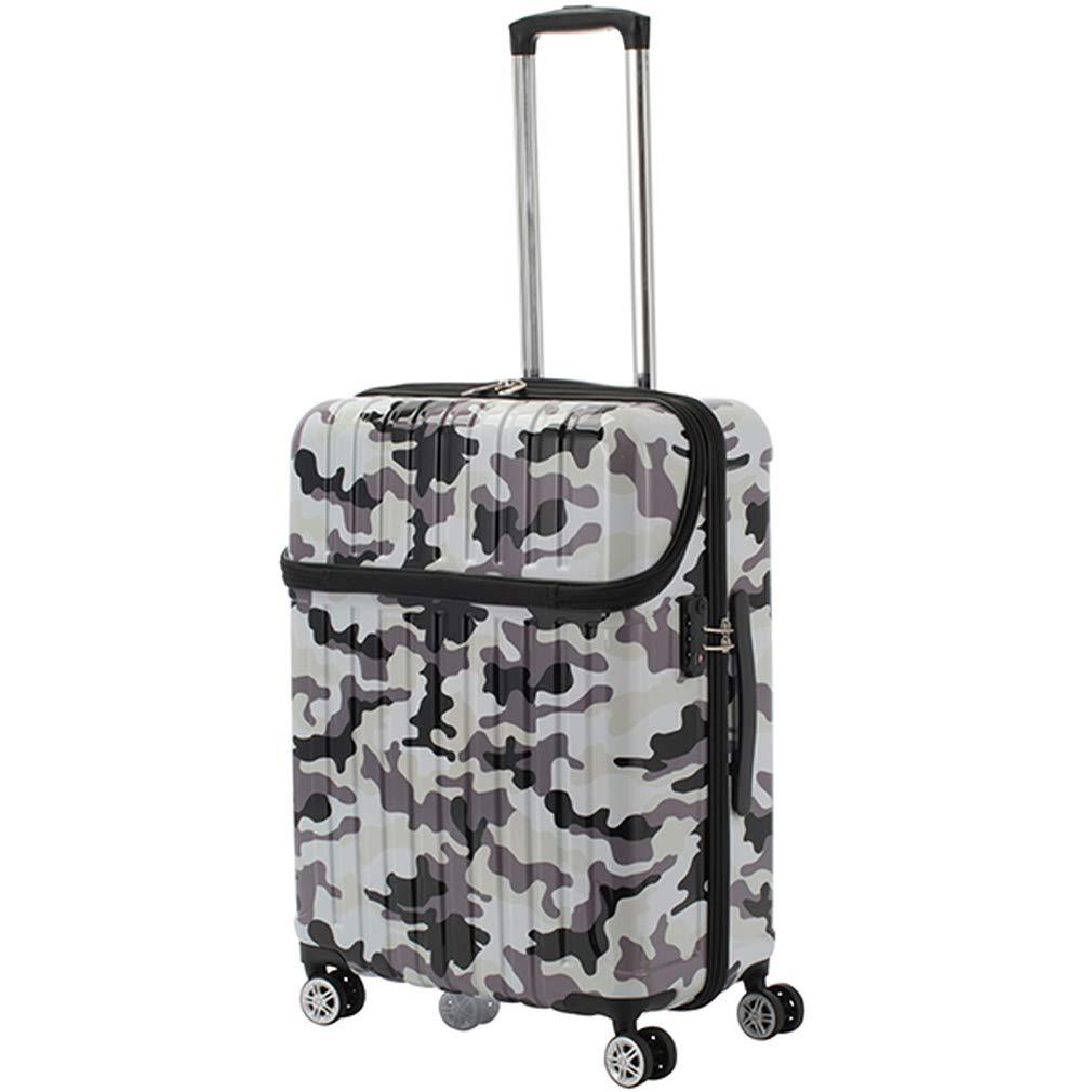 アクタス ACTUS トップオープン スーツケース 74-20371 ジッパーハード 59L 迷彩 ブラック 代引き不可[bg]   B07KHNGF87