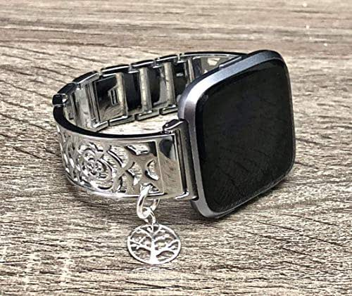 Amazon.com: Shiny Silver Metal Luxury Bracelet For Fitbit