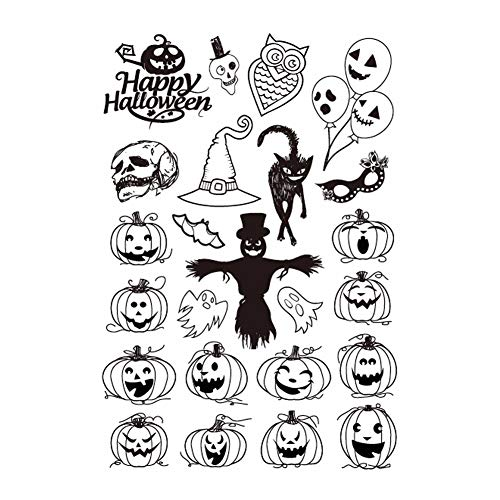 Scrapbook Paper Clear Scrapbooking Halloween Pumpkin Monster Transparent Clear Silicone Stamp Scrapbook Paper Craft Clear Stamps DIY Scrapbooking Stamps -