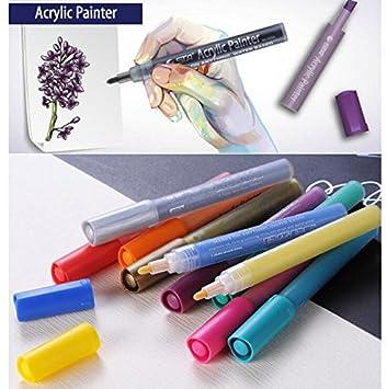 12/24 colores permanente de color pintura rotulador de Metal Tejido plástico agua acrílico pintor