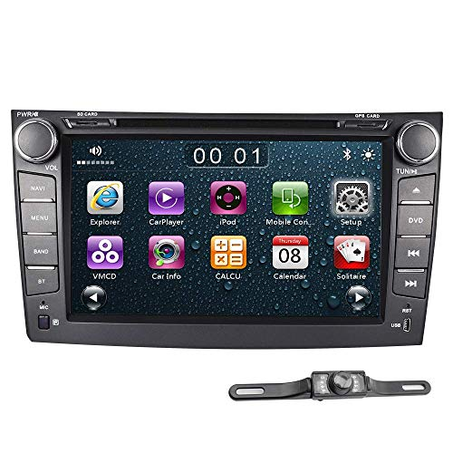 (ASURE Car Stereo Bluetooth CD DVD Player Touchscreen GPS Navigation Car Radio for Toyota Corolla 2006 2007 2008 2009 2010 2011, Include 16G Map Card & Reverse Camera)