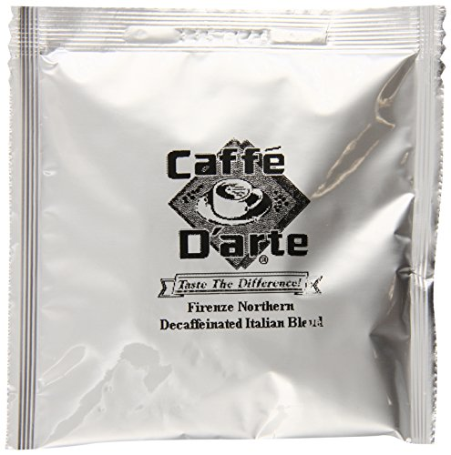 Caffe D'arte Decaf Italian Espresso Blend, 0.25-Ounce Single Serve Espresso Pods (Pack of (0.25 Ounce Pods)
