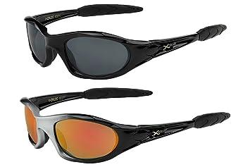 X-CRUZE® 2er Pack X08 Sonnenbrillen Sportbrille Radbrille Fahrradbrille - 1x Modell 1 (rot) und 1x Modell 2 (rot) vQ1S5