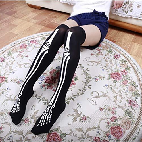 ESHOO Skeleton Bloody Socks Halloween Thigh High Stockings Cosplay Costume Party Favor ()