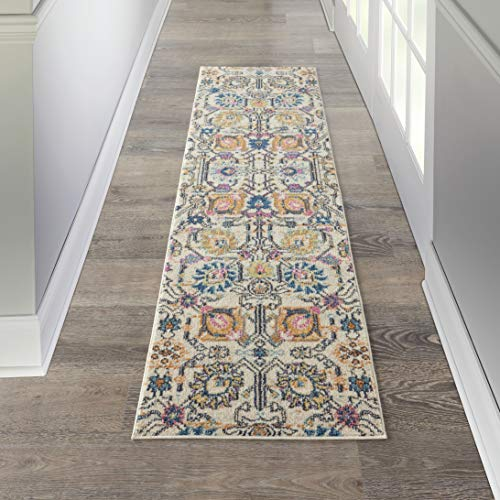 - Nourison PSN01 Passion Bohemian Chic Ivory/Multi Area Rug Runner (2' x 8'), 2'2
