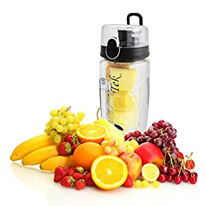 FreshTek Leak Proof Fruit Infuser Water Bottle, Large 32 Oz
