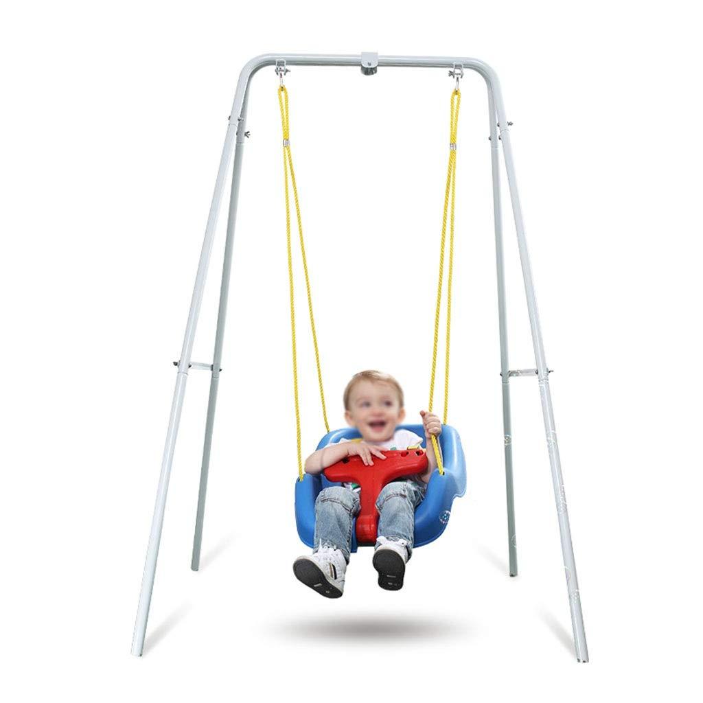 屋外の赤ちゃんスイング、多機能アイアンアート屋内多機能クリエイティブスイング便利な収納子装飾バルコニースイング (色 : A) B07PPBDL6K A