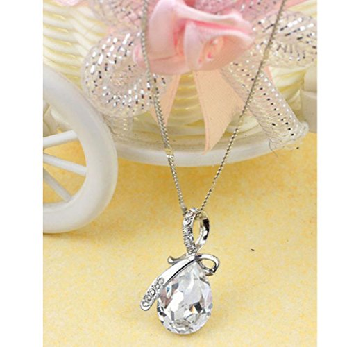 Usstore Women Lady Rhinestone Chain Crystal Pendant Necklace Jewelry Gift - Clearance Co Tiffany And